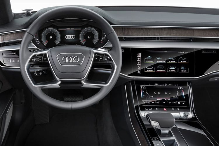 Audi A8 50 Saloon quattro LWB 4Dr 3.0 TDI V6 286PS Black Edition 4Dr Tiptronic [Start Stop] inside view